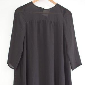 H&M Black Mini Shift Dress